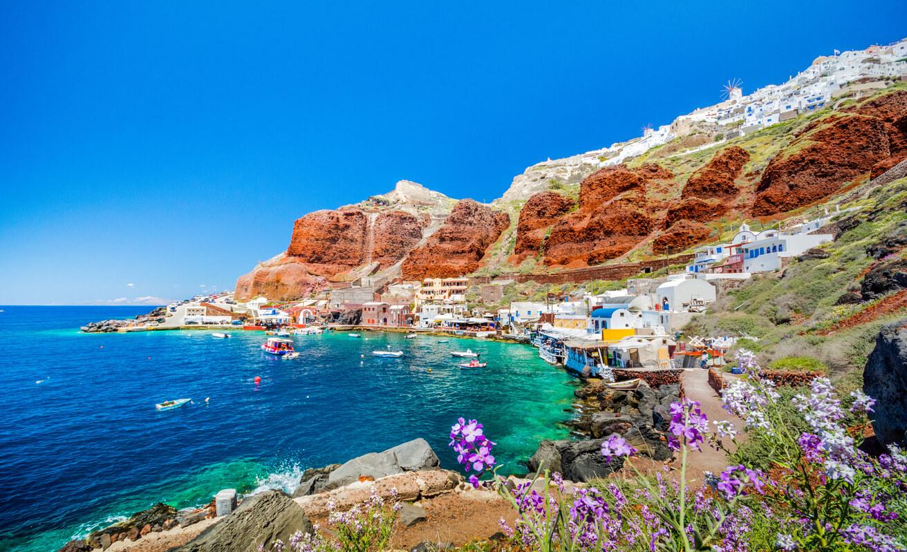 Santorini Sea water temperature Today and Forecast